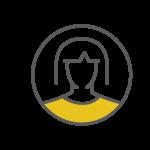 woman in circle icon
