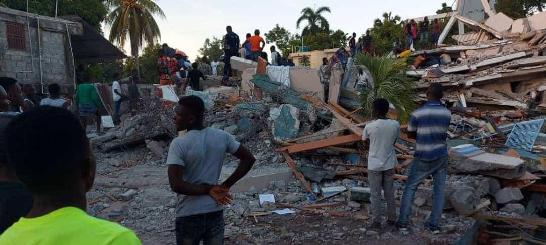 rubble from Haiti Earthquake 2021